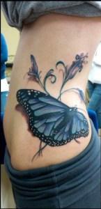 Mariposa Azul 3D con Firuletes