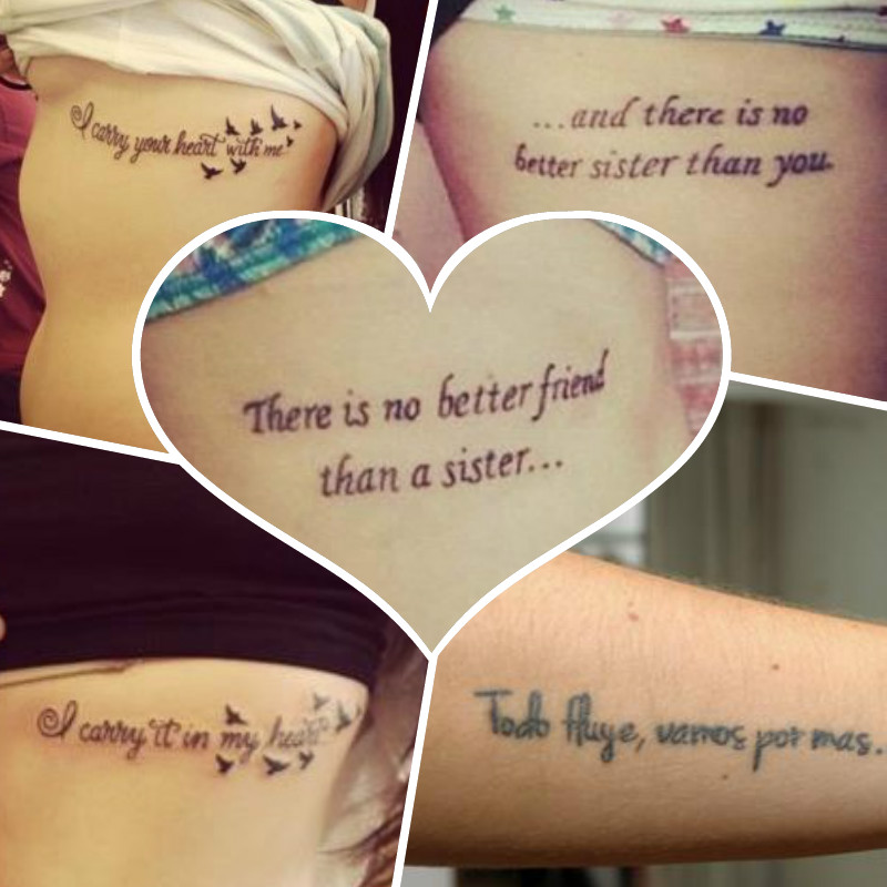 30 Frases De Amistad Para Tatuajes Tatuajes Para Mujeres - Tatuajes-de-frases-de-amistad