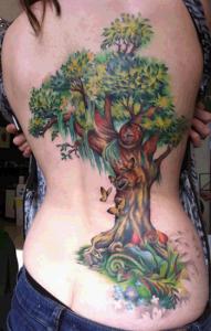 Árbol, Mariposas, Hada y Flores