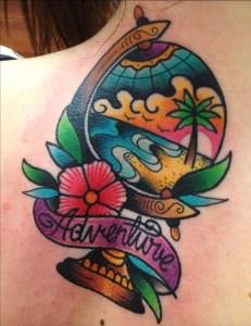 Frase: Adventure y Globo Terraqueo by Tilly Dee