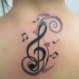 Clave de Sol con Notas Musicales