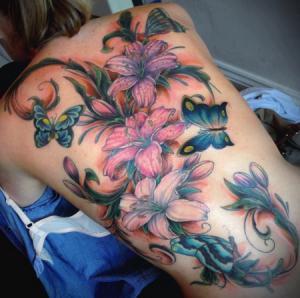 Flores, Mariposas y Plantas