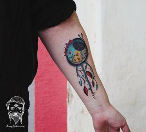 AtrapaSueños de Plantas by Bumpkin Tattoo