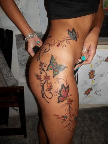 Mariposas, Flores, Firuletes