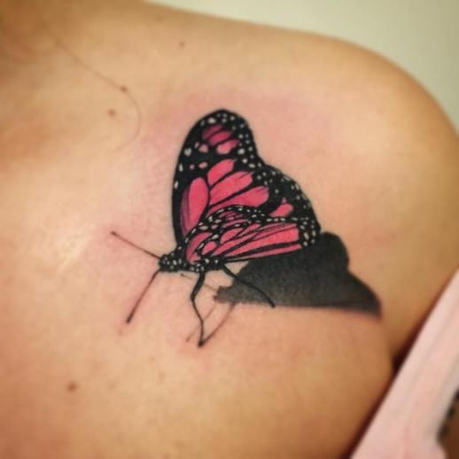 Mariposa 3D Borà Tattoo Studio