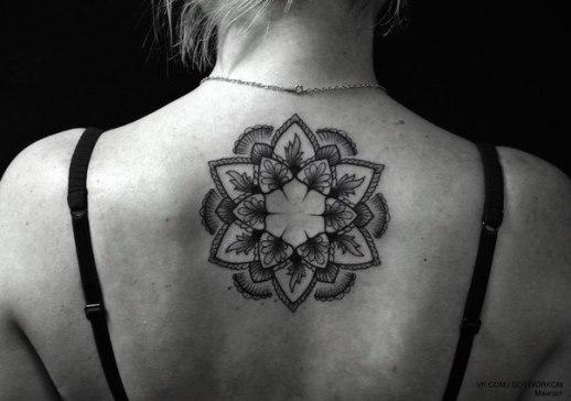 Mandala con centro Flor