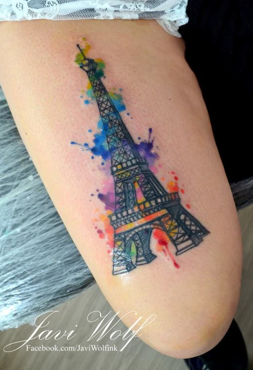 Torre Eiffel estilo Acuarelas por Javi Wolf