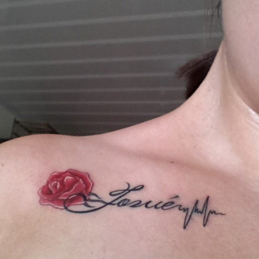 Nombre en Flor Rosa