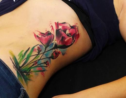 Flores estilo Acuarelas