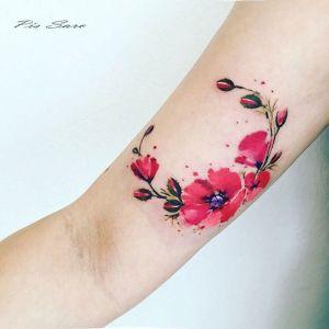 Ramillete Flores de Amapola por Pis Saro