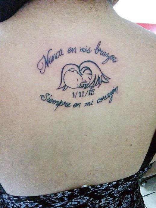 Frase: Nunca en mis brazos siempre en mi corazón