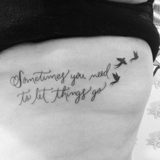 Frase Sometimes you need to let things go y Aves por Luciano Rosi