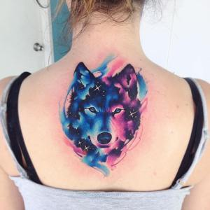 Lobo Acuarelas por Adrian Bascur