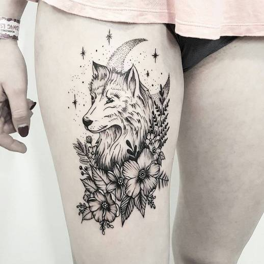 Mandala Wolf Tattoo Designs For Women I Like The: Tatuajes Para Mujeres