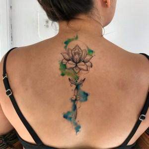Flor de Loto estilo acuarelas