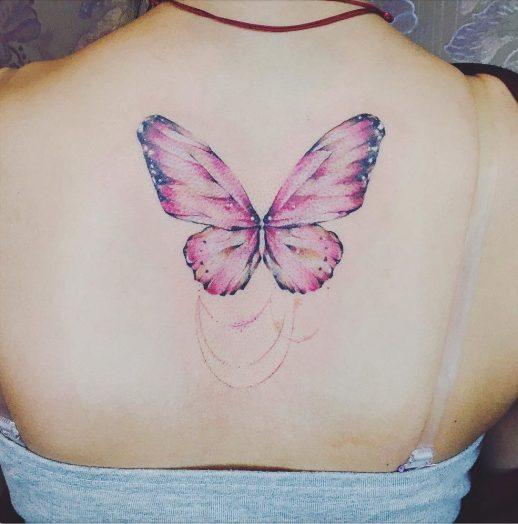 Mariposa alas rosadas
