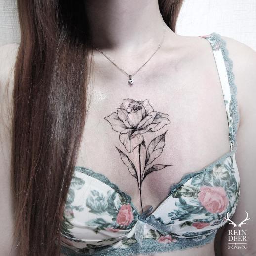 Flor por Reindeer Ink Zihwa Hongdae