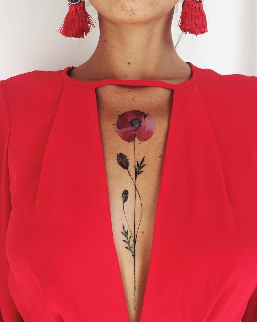 Flor de Amapola por Pis Saro