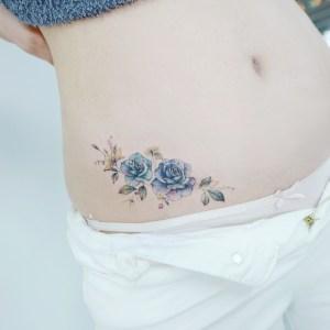 Flores azules tipo papel