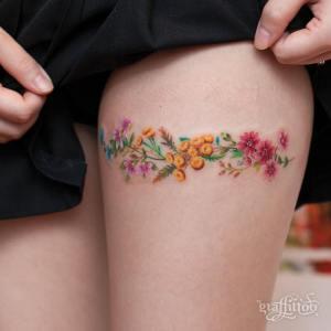 Flores liga por graffittoo tattoo studio