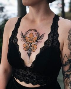 Flores amarillas por Jen Tonic