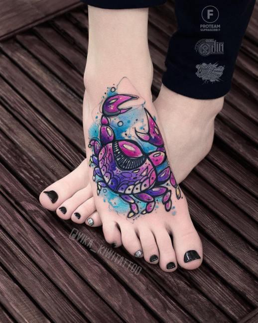 Cangrejo por Вика Kiwi Tattoo