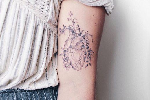 Corazón con flores por Luiza Oliveira