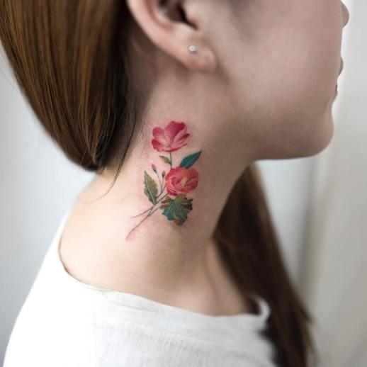 Flores rosas por Hongdam