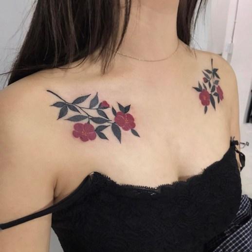 Flores Rosas por Arang Sa