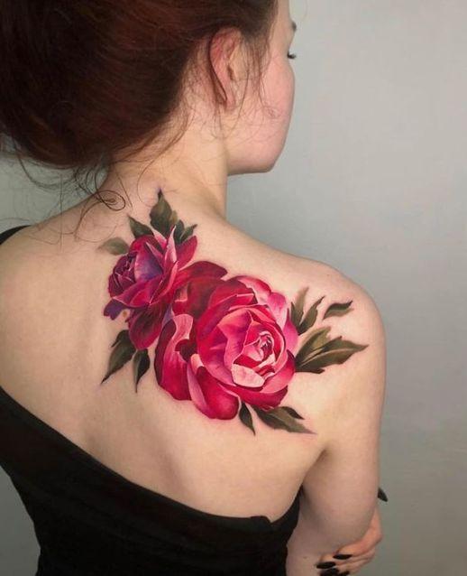 Flores rosas 3D