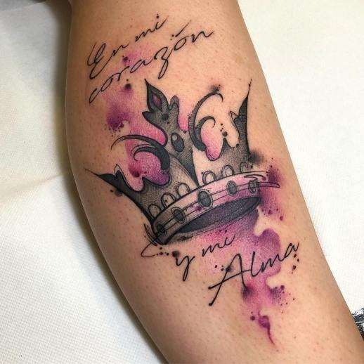 Frase: En mi corazón y mi alma, corona