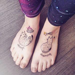 Frase: Always dreaming Gatos cósmicos por Lia November
