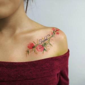 Nombre: Isabel y flores por Giovanny Medina