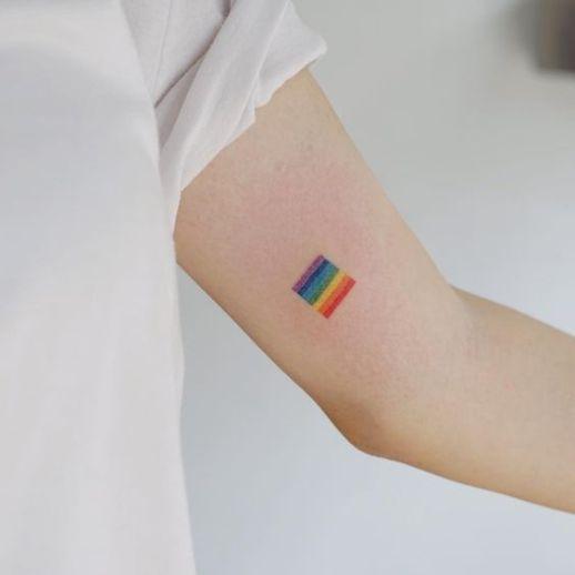 Bandera con los colores del arcoiris