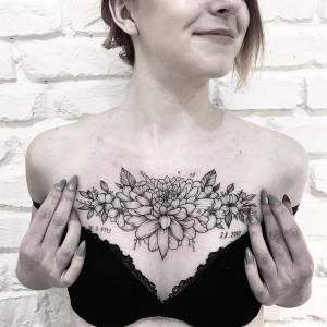 Bouquet de flores por Terryemi Tattoo