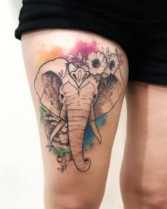 Elefante por LCjunior Tattoo
