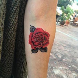 Flor rosa estilo realista