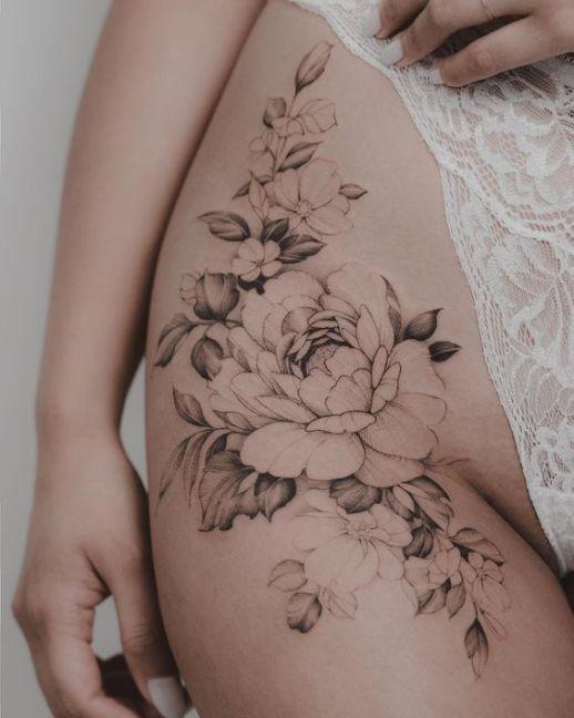 Flores en la ingle