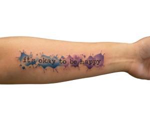 Frase: It´s okay to be happy por Georgia Grey