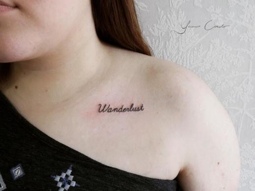 Frase: Wanderlust por Yasmin Coiado
