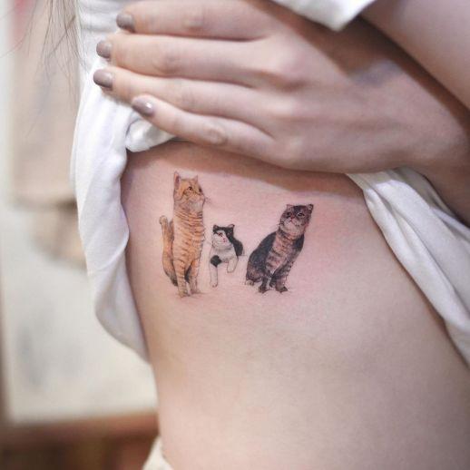 Gatitos por Tattooist Grain