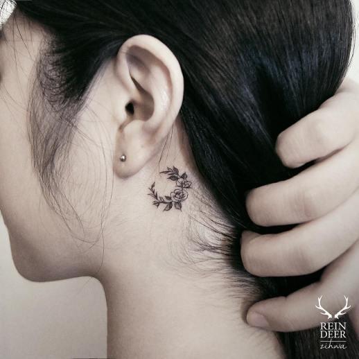 Luna de flores por Reindeer Ink Zihwa Hongdae