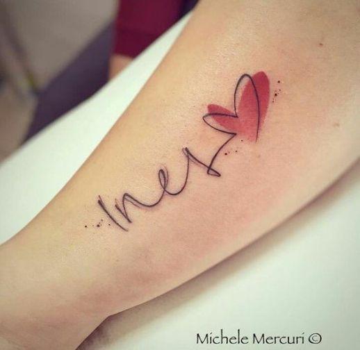 Nombre: Ines y corazón por Michele Mercuri