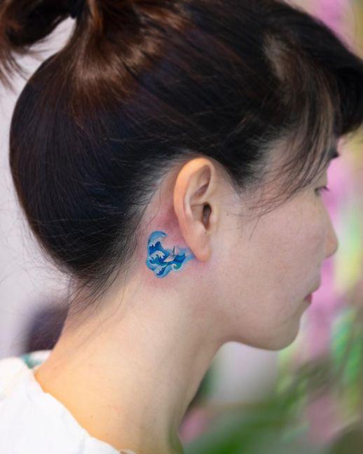 Olas del mar por Zihee Tattoo