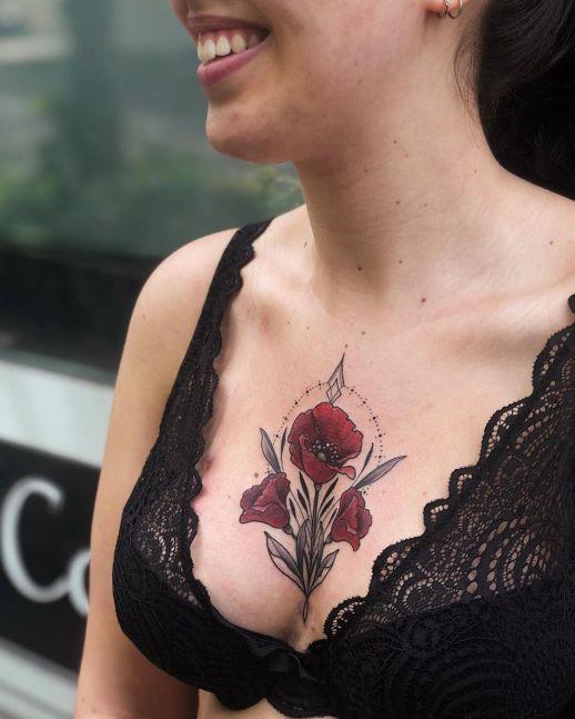 Flores de amapolas por Jen Tonic