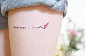 Frase: Whatever I want por Seyoon Kim / 김세윤 (@sey8n)