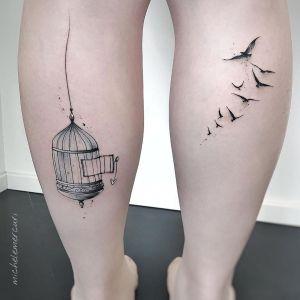 Aves libres fuera de la jaula por Michele Mercuri