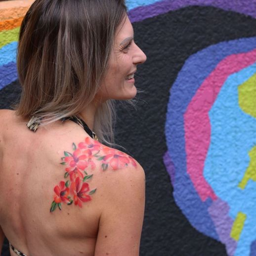 Enredadera de flores por Yasmin Coiado