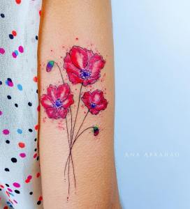 Flores de amapola por Ana Abrahão