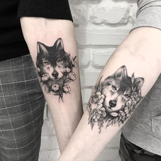 Pareja de lobos por Terryemi Tattoo